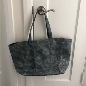 Grey Faux leather snakeskin bag